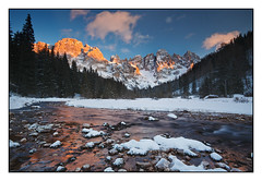 (Giordano Bertocchi) Tags: winter light sunset italy snow landscape italia tramonto pale neve trento inverno luce paesaggio trentino sanmartino vezzana baitasegantini valvenegia bureloni