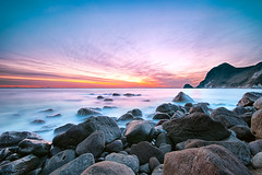 IHAMA Rocky Beach on Dec.20 (-TommyTsutsui- [nextBlessing]) Tags: longexposure blue winter light sunset sea sky orange seascape beach nature rock japan clouds landscape nikon purple dusk magic tide scenic wave shore 夕陽 雲 冬 海岸 海 空 izu 伊豆 newvision minamiizu sigma1020 南伊豆 磯 onsalegettyimages 伊浜 peregrino27newvision