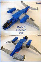 Mom's Kitchen WIP 004 (M.R. Yoder) Tags: ship lego space jet wip sdf macross robotech moc momskitchen