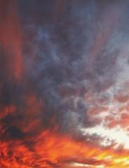 skyfade (LauraSorrells) Tags: christmas winter sunset wild sky orange clouds discernment twilight jasper december dusk joy vivid shift change fade 2009 threshold otherworldly