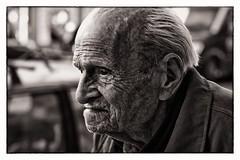 Old Boy (Cirrusgazer) Tags: candid streetphotography oldman greece elderly experience crete elder weathered aged chania canonef50mmf14usm bwartaward
