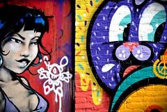 La noia i el conill (Energtico) Tags: trip viaje urban holland color muro bunny art tourism girl amsterdam wall pared vacances holidays europa europe chica arte conejo painted graffity holanda viatge urbano mur turismo vacaciones paret pintura grafitty graffitty turisme conill