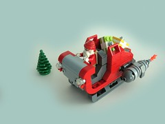 Santa's Sleigh (aabbee 150) Tags: from santa christmas horse reindeer view lego you photos or seat 150 everyone merry ejection clause functionality aabbee