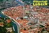 Lübeck from Air (Postcard) (roger4336) Tags: germany deutschland air 1999 lübeck lubeck schleswigholstein