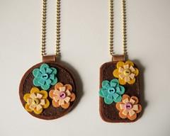 Collares (Lidia!!) Tags: flores flower fleurs collier necklace felt feltro collar jewel fieltro