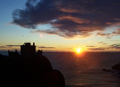 Dunnottar Castle Sunrise, 0849 AM, 29th December 2011, Explored #136 (allanmaciver) Tags: morning sea cliff cold castle silhouette clouds sunrise wonderful grey amazing december glow shine blind bright horizon ruin calm glorious wait 29 majestic 136 dunnottar stonehaven appear 2011 explored 0849 allanmaciver
