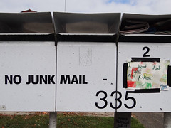 No junk mail (Home Land & Sea) Tags: newzealand sign mailboxes nz napier sonycybershot hawkesbay letterboxes nojunkmail homelandsea dschx100v iwantjunkmailplease