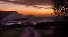 Seven Sisters Sunrise from Coastguard Cottages (JamboEastbourne) Tags: coastguard haven sisters sunrise sussex seven cottages cuckmere