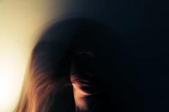 16 (mashmashmash) Tags: light portrait motion blur dark hair movement shadows slow move shutter dynamism