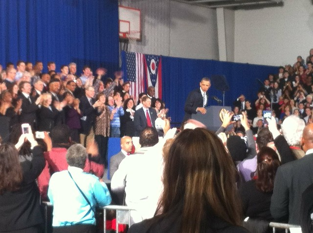 President Barack Obama at Shaker Heights High School