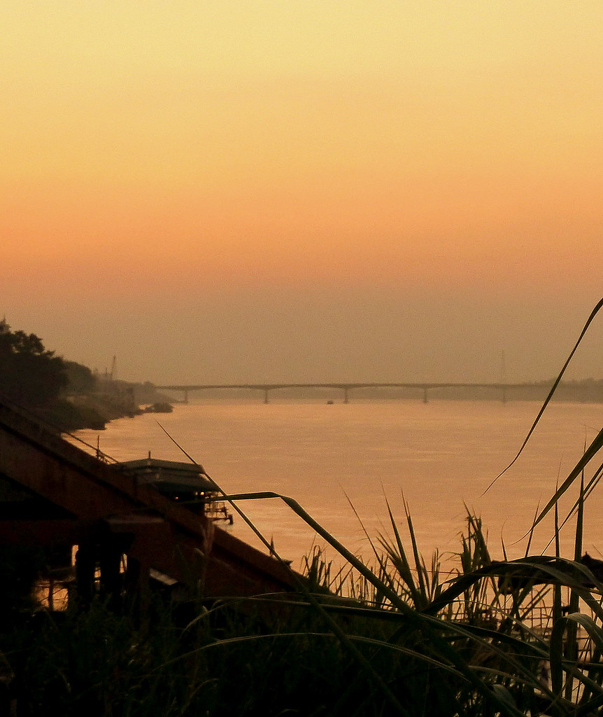River sunset, Nong Khai, Thailand