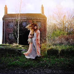 Our Best Told Tales (rebeccapalmer.) Tags: overgrown girl childhood 35mm doll wind recreation flowing aged breeze reliving nightgown recreate nikond90 florenceandthemachine talenthouse