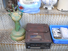 "Seoul Korea super-rare ""portable"" Betamax VCR at flea market (moreska) Tags: old color window vintage shopping dead junk media sony markets korea beta nostalgia electronics seoul stuff format local machines flea 1980s collecting browsing camcorders betamax eras formats bygone vcrs"