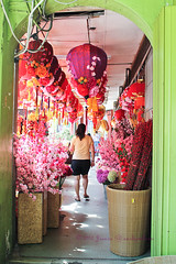 Corridor of Bright Chinese New Year decorations! (Smoky Wok (Jasmine)) Tags: flowers festive photography chinatown markets chinesenewyear malaysia kualalumpur groceries chinesenewyeardecorations