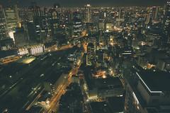 (skidu) Tags: sky building japan night angle wide tokina osaka umeda 550d t2i