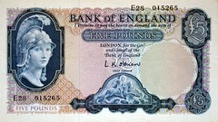1950-1960's Nostalgia £5 Note (colinfpickett) Tags: old money 1930s airport coins memories streetscene cash nostalgia 1940s 1950s nostalgic british 1960s 1970s coaches airliner delivering banknotes