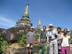 Nwa La Bo Pagoda on Balancing Rocks (beeslesr) Tags: train yangon burma myanmar moulmein upperclass mawlamyine myanmarrailways ronbeesley