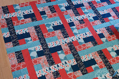 Come What May (Jaybird Quilts) Tags: quilt moda andover fabric outfoxed princecharming freespirit comewhatmay lizzyhouse tulapink jaybirdquilts 1001peeps halfmoonmodern