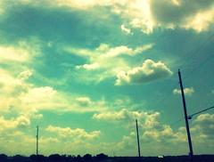 Sky 3 (kacykrypton) Tags: road sky 3 electric skies telephone wires poles