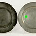 134. Two Antique Pewter Plates