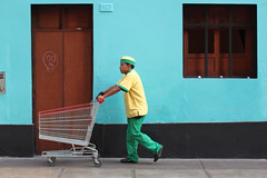 The Streets - Colourful Miraflores (Geraint Rowland Photography) Tags: streets peru canon walking person lima walk colourful cart miraflores shopper the 500d