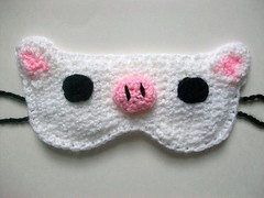 Piggy bunny sleep mask (Mooy) Tags: cute rabbit bunny piggy handmade crochet korean kawaii drama yourebeautiful mooeyandfriends sleepmaskanimal