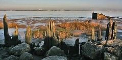 Humber Remnants (SydPix) Tags: wood winter orange rotting metal river reeds rust rocks frost mud estuary barton lighter hull wreck derelict barge tranquil humber sydyoung