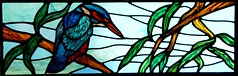 Bedenham School Stained Glass Windows (stainedglassartist) Tags: stainedglasswindows sunwindow stainedglasskingfisher schoolwindows moonwindow kingfisherwindow robinwindow moodroomwindowsforaschool stainedglassrobin
