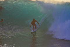 backlighting (bluewavechris) Tags: ocean sea water backlight fun hawaii photo surf photographer ride action surfer board tube barrel wave maui foam surfboard swell