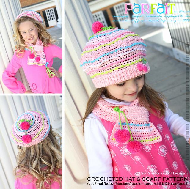 Ravelry Parfait Hat Scarf Crochet Pattern By Alla Koval
