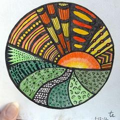 Zentangle #01 1-12-12