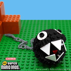 LEGO Chain Chomp (bruceywan) Tags: lego brothers super mario chain sphere chomp bros photostream lowell moc lowellsphere brucelowellcom lowellspherebl
