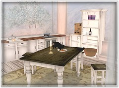 What's the cat doing on the table?! (Fay Valentine) Tags: life lisp next sl second what lalicious kinokoko lebloom