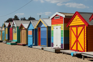 Brighton Beach Bathing Boxes