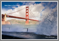 Water Wave in Fort Point (davidyuweb) Tags: sanfrancisco california bridge usa water point golden gate fort wave sfbay sfist
