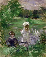 Berthe Morisot - On the Shore of the Lake, 1883 (Musee Marmottan Monet - Paris France) at Museo Thyssen-Bornemisza Madrid Spain (mbell1975) Tags: madrid lake paris france art museum painting french spain gallery museu fine arts musée musee m espana shore monet impressionism museo thyssen impression impressionist muzeum on müze morisot berthe thyssenbornemisza marmottan bornemisza museumuseum