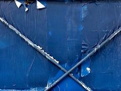 fase azul #3... (bruce grant) Tags: broadway tags cartazes obras andaime novaiorque tapume rasgados apagados