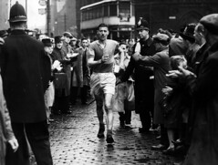 Nearly at the Finish (Greater Manchester Police) Tags: race manchester unitedkingdom police 1940s crowdcontrol gmp britishpolice manchesterpolice ukpolice walkingrace greatermanchesterpolice policehistory greatermanchesterpolicemuseumandarchive unitedkingdompolice 1940spolicing