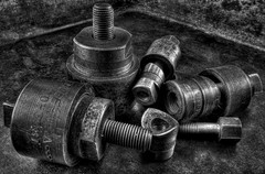Punches (arbyreed) Tags: blackandwhite bw macro monochrome metal closeup rust close tools punch punches oldtools sheetmetaltools arbyreed metalpunches chassispunches