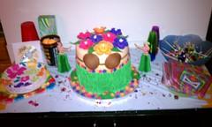 Luau theme cake (prissypop918) Tags: cake coconut bra luau theme