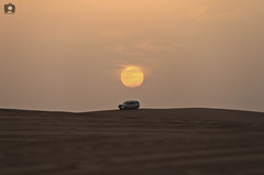 Leave |  (Abdulrahman AlShetwi) Tags: sunset sun car          desirt      sunreis