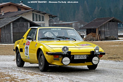 FIAT  X 1/9 Bertone year 1973 (marvin 345) Tags: auto old italy classic cars car vintage automobile italia fiat rally voiture historic oldtimer trentino vecchio epoca storico vecchia fiatx19 vecchie storiche mezzano worldcars snowtrophy fiatx19bertone valprimiero