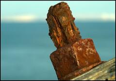 rusty bolt (c.richard) Tags: portland seaside rust rusty dorset corrosion nutbolt rustynut