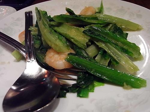 パオ愛宕店〜青菜と海老の炒め