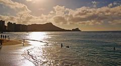 Smooth as Silk (jcc55883) Tags: ocean sun hawaii sand nikon waikiki oahu pacificocean diamondhead d40 graysbeach nikond40
