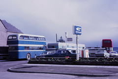 Invergordon Cleveland Filling Station (Guy Arab UF) Tags: bus 1955 buses station cleveland highland petrol northern macdonald filling leyland counties invergordon rossshire lowbridge omnibuses jd4 pd220 gcs224