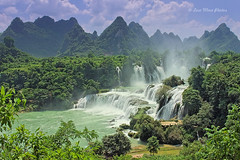 DTin Waterfall (), Gungx, China (Loco Moco Photos) Tags: china river waterfall border vietnam cascades karst cascade caobang guangxi  detian  pubu bangioc daxin chongzuo trungkhanh quayson guichun