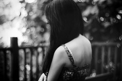 Day 298/365 ~ So Don't Give Up on Me; Please Remind Me Who I Really Am [Explored] (Amanda Mabel) Tags: portrait blackandwhite girl fence hair back dress arm emotion skin bokeh head bare strap bones faceless delicate fragile kellyclarkson darkside amandamabel sodontgiveuponmepleaseremindmewhoireallyam