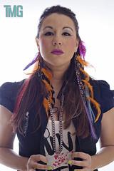 Erica (Token Media Group) Tags: canon studio eos model glamour feathers headshot accessories dslr 30d highfashion tmg strobist michaelalvarado