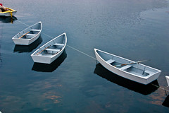 Three dinghies at Star Island, Isles of Shoals, New Hampshire (nelights) Tags: boat boating rowboat dinghy rowboats dinghies
